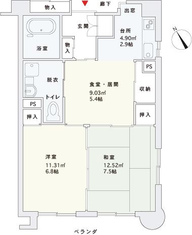 間取り Type-B(角部屋)